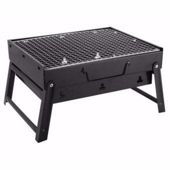 Portable Stainless Steel Barbecue Grill Pits (black)
