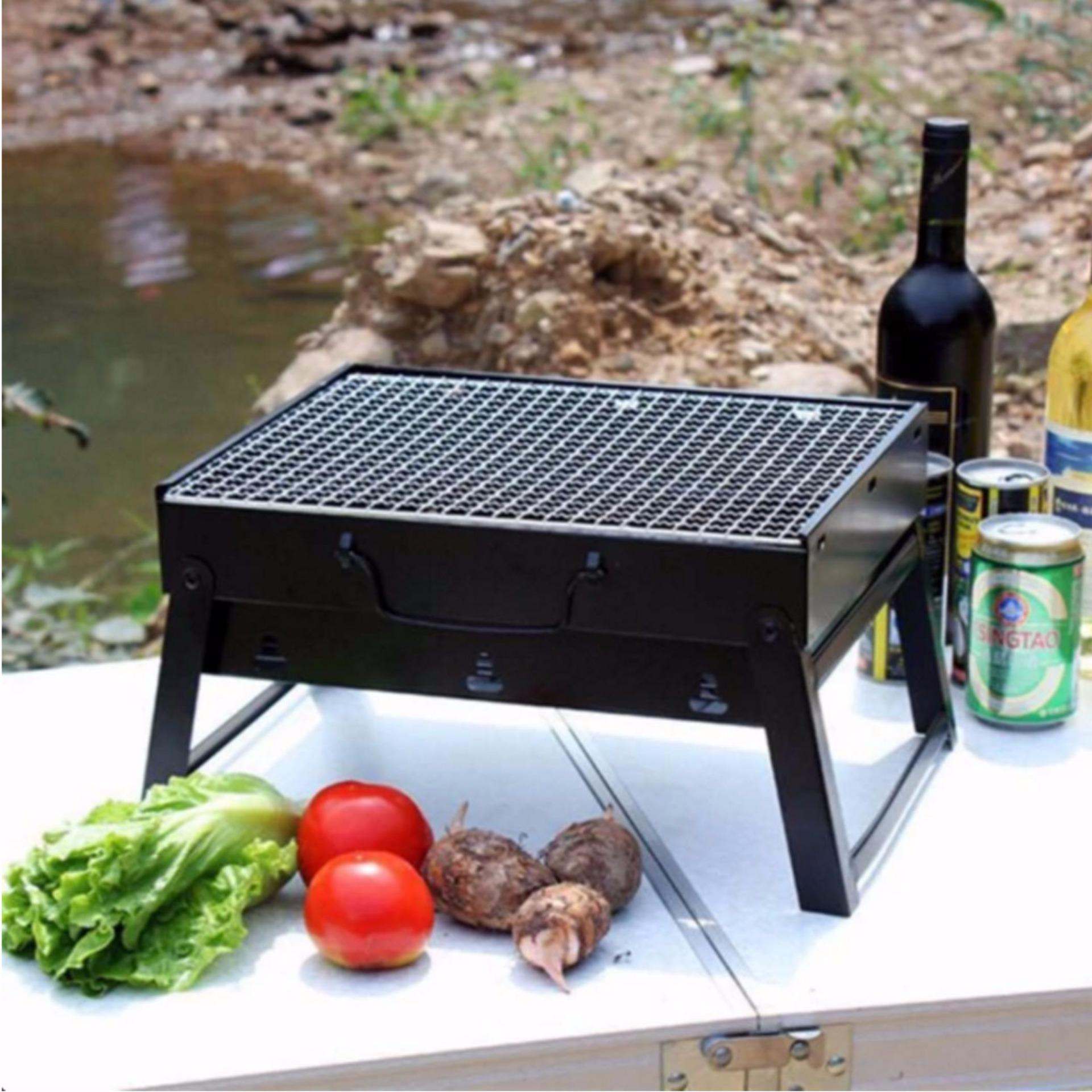 Portable Stainless Steel Barbecue Grill Pits (black) ...