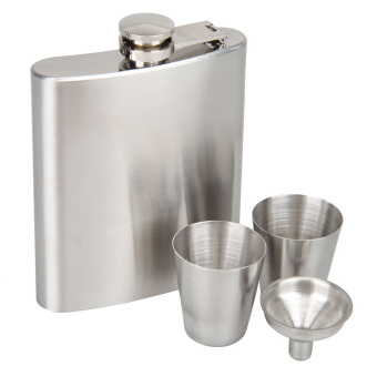 Portable Stainless Steel Hip Flask Flagon Whiskey Wine Pot BottleGift