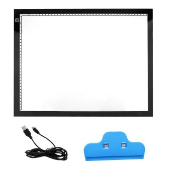 Portable Ultra-thin A3 Model LED Drawing Board Eyesight-protectedTouch Dimmable Light Pad Board Tracing Light Box with Clip for 2DAnimation Sketching Drawing - intl