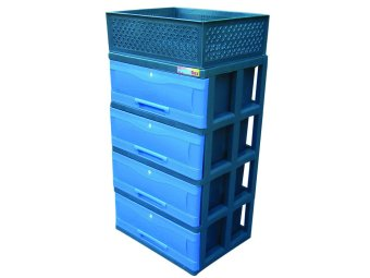 Power Box Chest Drawer D.288-4L(Blue) - 4
