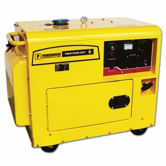 Powerhouse PWH7500E-DST Diesel Silent Type with Key Electric Start& Battery Generator Price Philippines