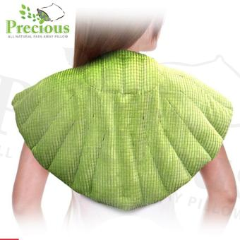 Precious Herbal Pillow Upper Back Herbal Pad Microwave Hot and Cold Compress Pain Reliever(Green)