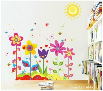 Pretty Flowers Wall Sticker (Multicolor) Price Philippines
