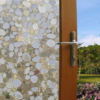 Privacy Window Film Frosted Window Stickers Self Adhesive StaticGlass 100*45cm - intl - 3
