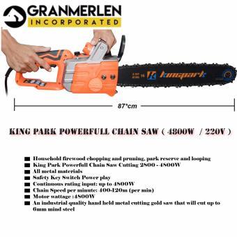 Professional Electric Power Chain Saw 2800 - 4800W - King Park (Orange) - 2