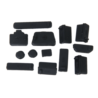 Protective Ports Cover Set Silicone Anti-Dust Plug Stopper forLaptop Notebook - Black