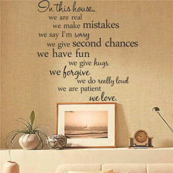 Proverbs English Lettered home wall Decorative Sticker Wallpaper