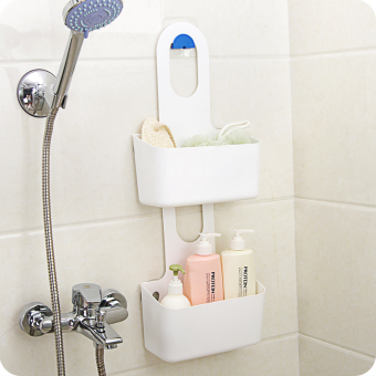Punched suction wall-mounted storage rack