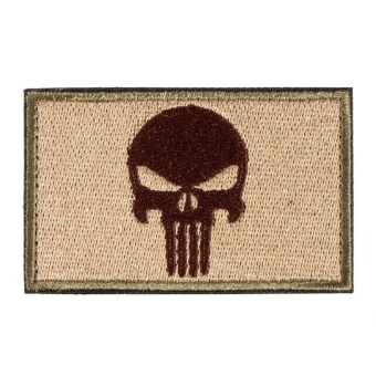 PUNISHER SKULL SWAT OPS ARMY MILITARY TACTICAL MORALE PATCH ARMY GREEN - intl - 2