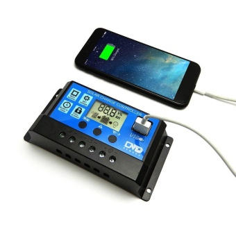 PWM 20A Solar Charge Controller 12V 24V LCD Display Dual USB SolarPanel Charger - intl
