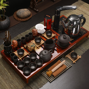 Qian Yu clay Ice crack tea sets tea wood tea tray