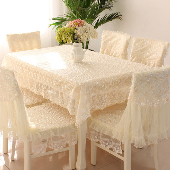 Qiaoxinsi pastoral lace cloth chair cover tablecloth