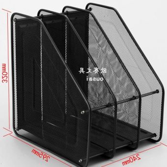 Quadruple metal office iron mesh data clip file folder