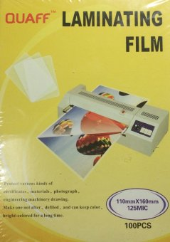 Quaff Laminating Film 110mm x 160mm (4R) 125 Micron Set of 2