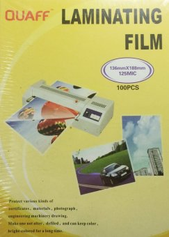 Quaff Laminating Film 136mm x 188mm (5R) 125 Micron Set of 2
