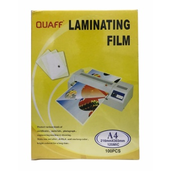 Quaff Laminating Film 216mm x 303mm (A4) 125 Micron Set of 2