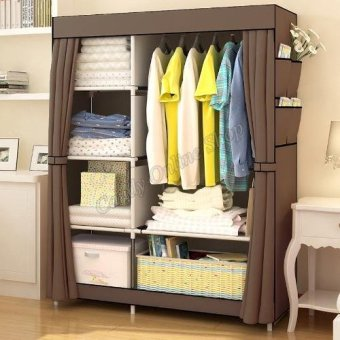 Quality Fashion Multifunction Cloth Wardrobe Storage Cabinets(Brown)