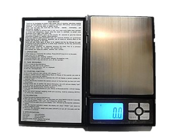 Raffles Notebook Portable Digital Weighing Scale 2000g x 0.1g(Black)