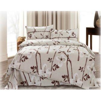 Raschel 4-Piece Bedsheet Set (Multicolor)
