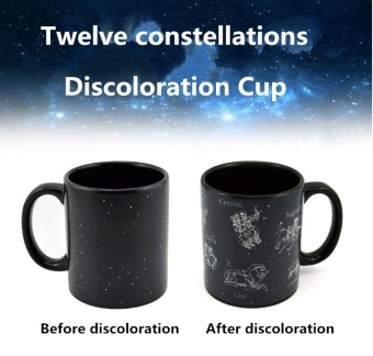 ~ READY STOCK ~12 Constellation Discoloration Cup Coffee Mug HeatReveal Cup Ceramic Magical Mugs With Pottery Handgrip 330ml - intl Price Philippines