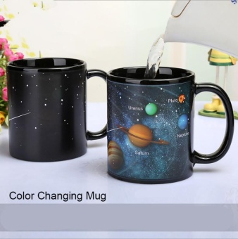 ~ READY STOCK ~ Discoloration Cup Coffee Mug Heat Reveal CupCeramic Magical Mugs With Pottery Handgrip 330ml - intl