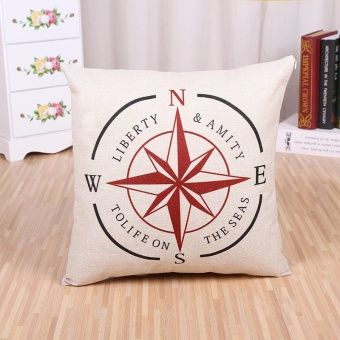 [ Ready Stock ] Modern Linen Pattern Printed Pillowcases Home Decor Car Sofa Cushion Covers - intl