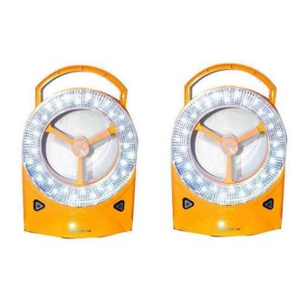 Rechargeable LED Light with Fan, Set of 2 (Yellow)