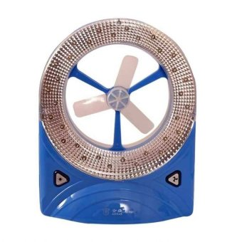 Rechargeable LED Light with Fan(Blue)