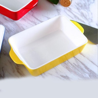 Rectangle Shape Ceramic Baking Pans For Cheese & Rice Use ForMicrowave Oven Non-stick Baking Pan Kitchen Tools
