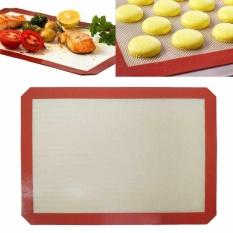 Red Baking Sheet Silicone Roasting Mat Kitchen Tools 42*29.5cmfiberglass weave - intl