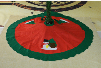 Red old snowman Christmas tree Christmas Tree Skirt