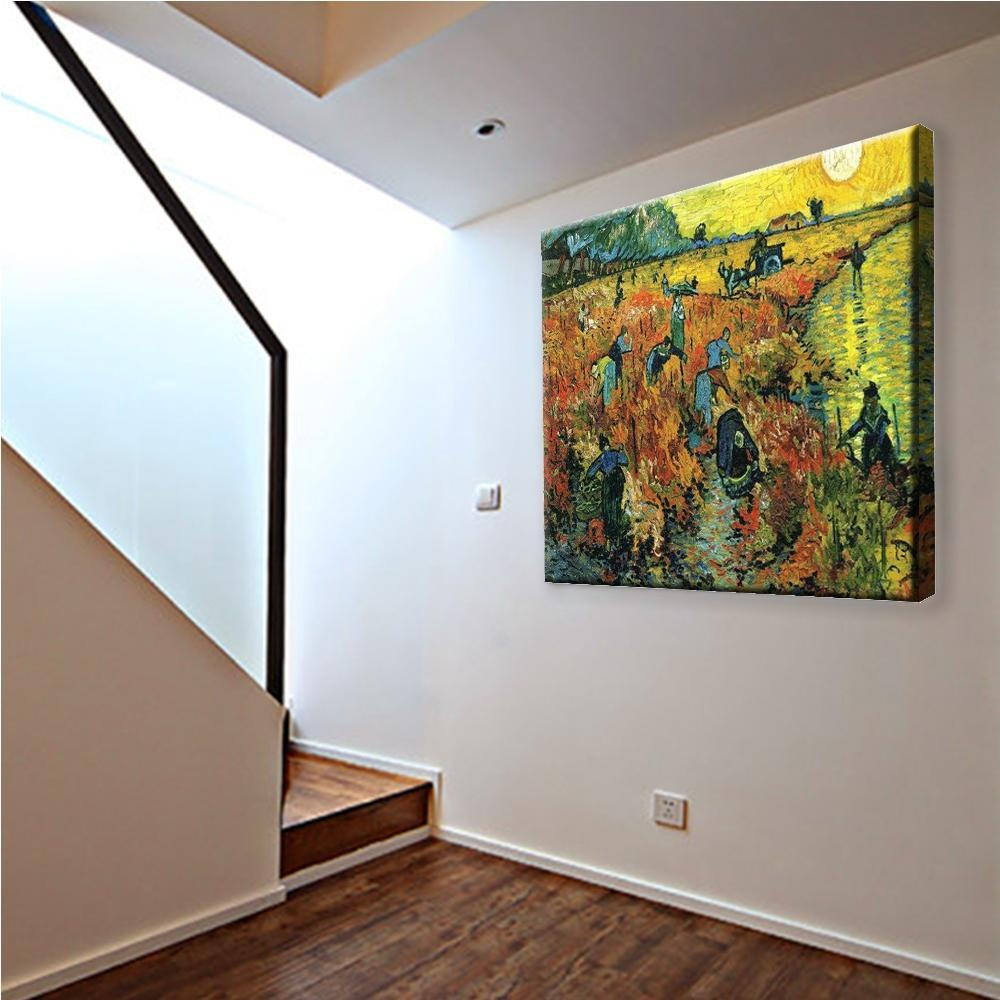 Red Vineyards At Arles Modern Oil Painting On Canvas HD PrintPainting Wall  Art Hang Hor Bedroom ...