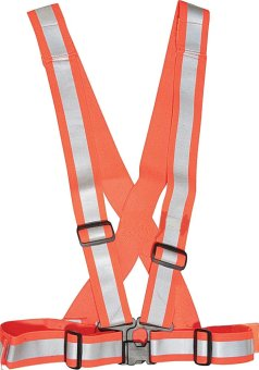 Reflective Belt Garterized Elastic Safety Vest Luminous HighVisibility Cycling with Buckle (Orange)