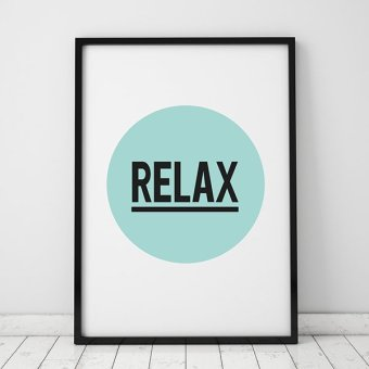 Relax Quote Wall Art Print Poster, Wall Pictures For HomeDecoration, Frame Not Include Canvas Art FA47 Price Philippines
