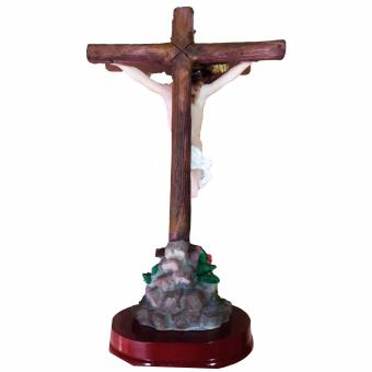 Religious Item Crucifix / Jesus Christ on the Cross with Base (Madeof Fiberglass Resin) by Everything About Santa (Christmasdecoration and gift suggestion) - 2