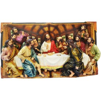 Religious Item Last Supper Scene 3D Book Style 41 CM for Wall andTable Top Jesus Christ with Twelve Apostles (Made of FiberglassResin) by Everything About Santa (Christmas decoration and giftsuggestion)
