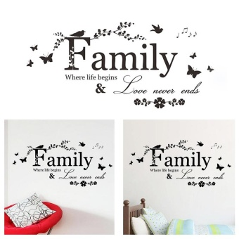 Removable Family Design Wall Sticker Decal Bedroom Wallpaper Home Decor - intl