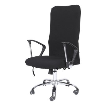 Removable Stretchy Swivel Chair Covers Office Armchair Soft Slipcovers (Black S) - intl - 2