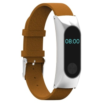 Replacement Wristband Band Strap + Metal Case For Xiaomi Mi Band 2Bracelet BW - intl