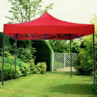 Retractable Foldable Tent Canopy Rainproof Gazebo 3m x 3m (Red)