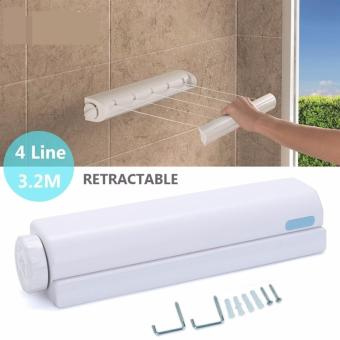 Retractable Indoor/Outdoor Space Saving Clothes Drying line