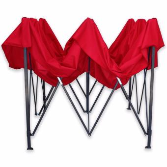 Retractable Tent Folding Foldable Shade Tent Canopy RainproofGazebo 2m x 2m (Red)