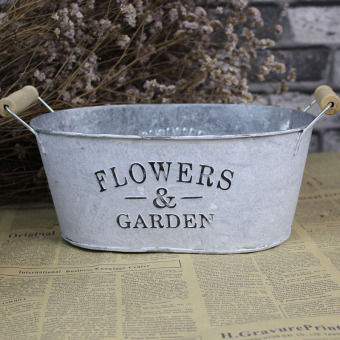 Retro American European metal flower Bucket