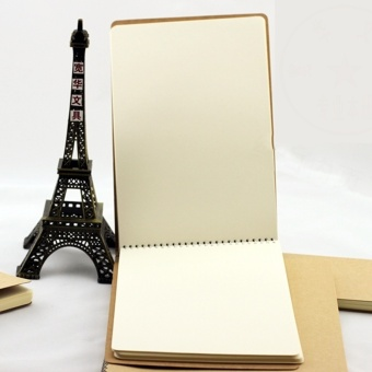 Retro Personality Kraft Paper Sketch Book Journal Notebook Coil Notebook