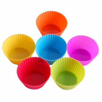 Reusable Silicone Baking Cups Cupcake Liners - Muffin Cups CakeMolds Baking Tools - intl - 3