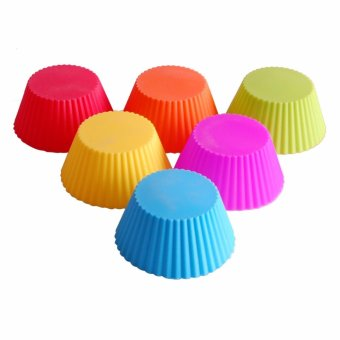 Reusable Silicone Baking Cups Cupcake Liners - Muffin Cups CakeMolds Baking Tools - intl - 4