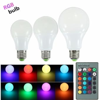 RGB LED Light Bulb - Color Changing with Remote Control,3W-E27-A50 - intl