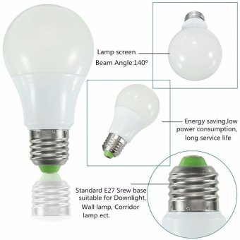 RGB LED Light Bulb - Color Changing with Remote Control,3W-E27-A50 - intl - 2