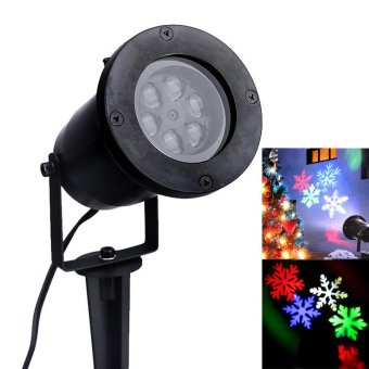 RGB Outdoor Waterproof Garden Tree Moving Snow Laser Projector Snowflake LED Stage Light Christmas Lights - intl